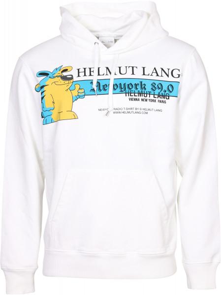 Men's Helmut Lang Hoodie Off White Printed