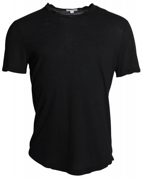 James Perse Crew Neck Shirt MKJ3360 schwarz