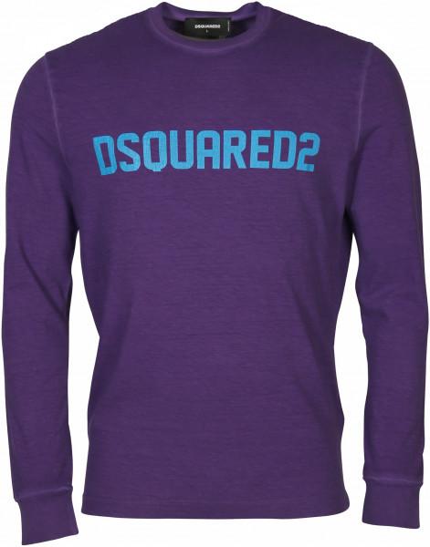 Men's Dsquared Longsleeve Purple Printed