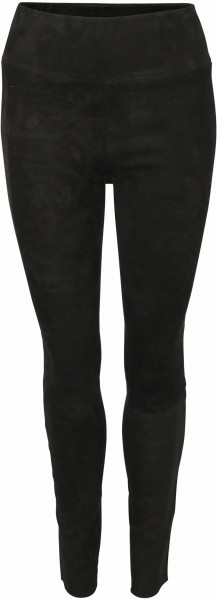 Women's SPRWMN Lamb Suede Leather Legging Black