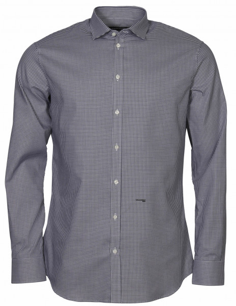 Men's Dsquared Classic Tailored Check Shirt Navy/White