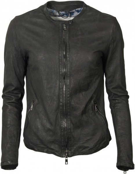 Women's Giorgio Brato Washed Leatherjacket Black