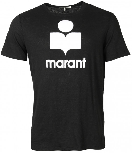 Men's Isabel Marant T-Shirt Karman Black Flocked