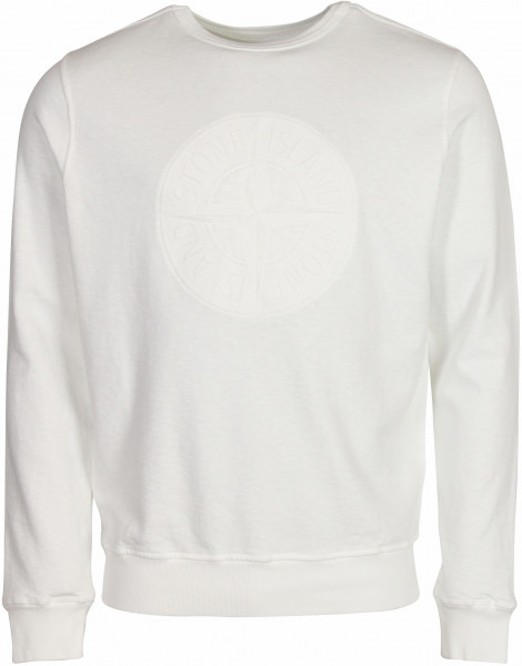 Men's Stone Island Reversible Sweatshirt White Printed