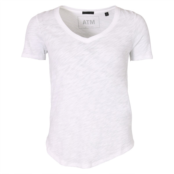 Women's ATM T-Shirt V Neck weiss