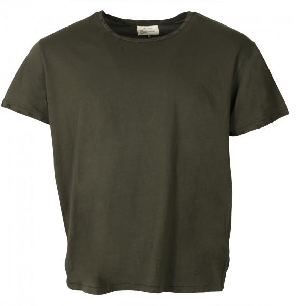 Men's R13 Destroyed T-Shirt Washed Black