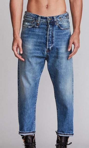 Men's R13 Jeans Jasper Blue Washed/Weller Drop