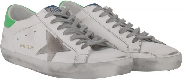 Men's Golden Goose Sneaker Superstar Suede Star Cocco Print Heel