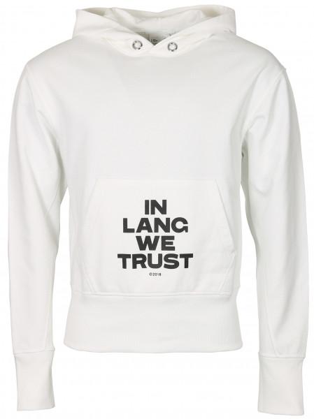 Unisex Helmut Lang Trust Hoodie White