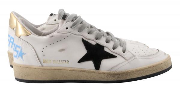 Women's Golden Goose Ballstar Leather Upper Suede Star Laminated Heel