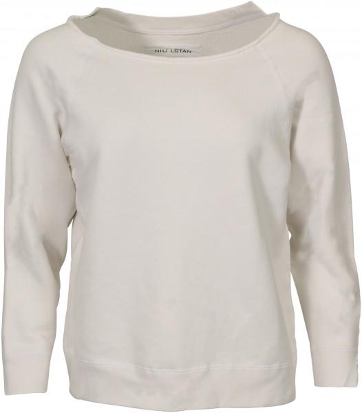 Women's Nili Lotan Sweatshirt Luka Vintage White