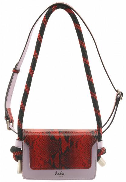 Women's Lala Berlin Belt Bag Astra Lilac/Fire Python Red