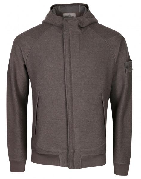 Men's Stone Island Ghostpiece Hooded Zip Sweatjacket Grey