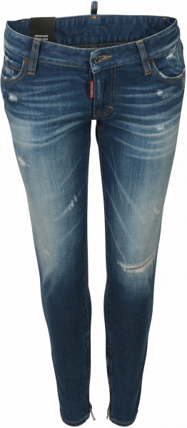 Women's Dsquared Jeans Medium Waist Skinny Blue Washed