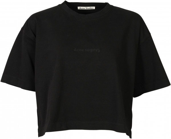 Women's Acne Studios Cropped T-Shirt Cylea black