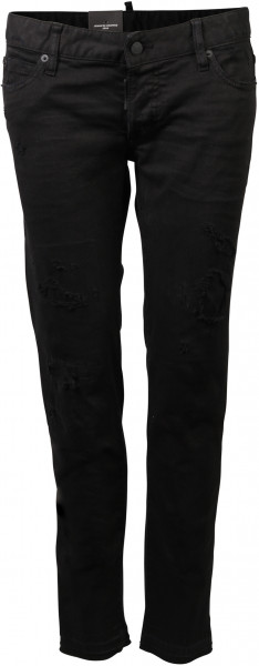 Women's Dsquared D2 Jennifer Cropped Jeans schwarz