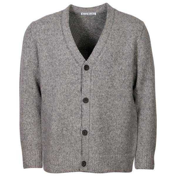 Men's Acne Studios Knit Cardigan Kabelo Cashmix Grey Melange