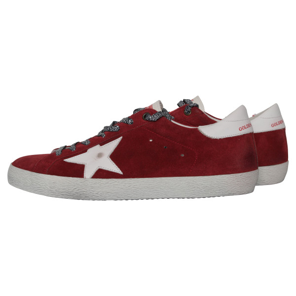 Men's Golden Goose Sneakers Superstar red suede