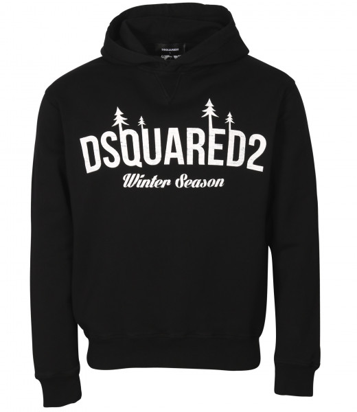 Men's Dsquared Printed Hoodie Black