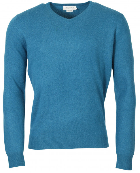 Men's Absolut Cashmere V-Neck Pullover Petrol