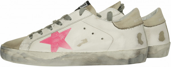 Women's Golden Goose Sneaker Superstar White/Pink Star