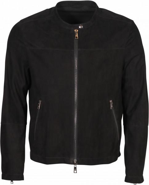 Men's Giorgio Brato Goat Leather Jacket Black