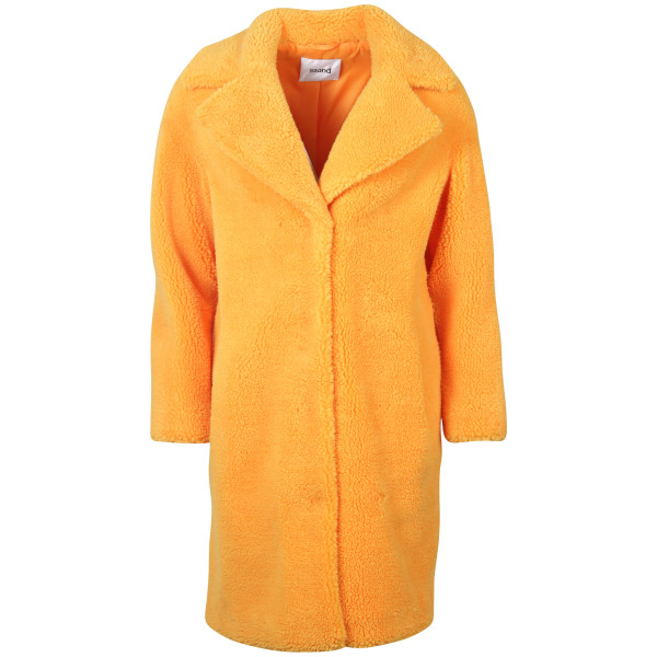 Women's Stand Fake Fur Mantel orange