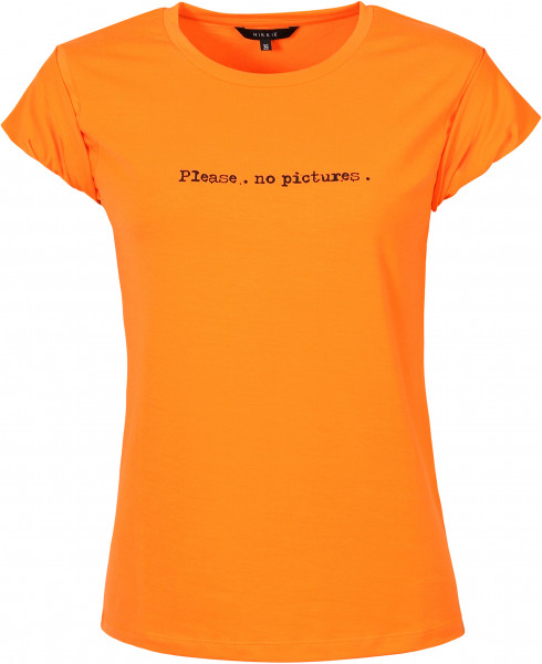 Women's Nikkie T-Shirt Pictures Fluo Orange