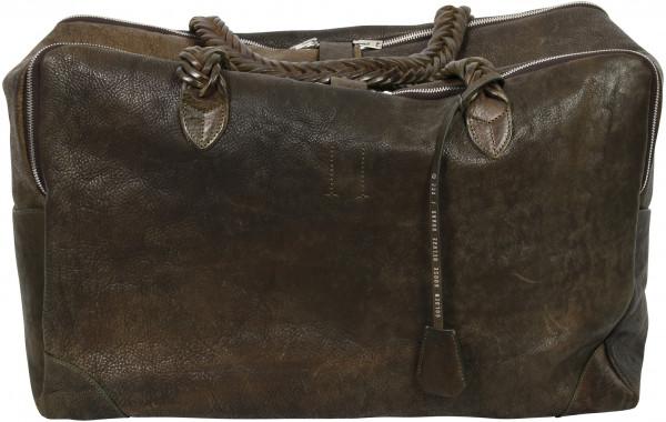 Golden Goose Big Equipage Bag Green Washed Leather