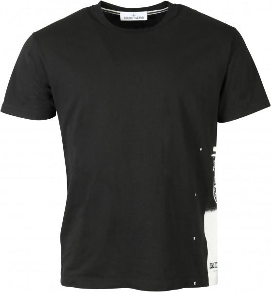 Men's Stone Island T-Shirt Black Printed