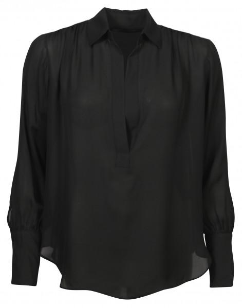Women's Nili Lotan Silk Shirt Colleen Black