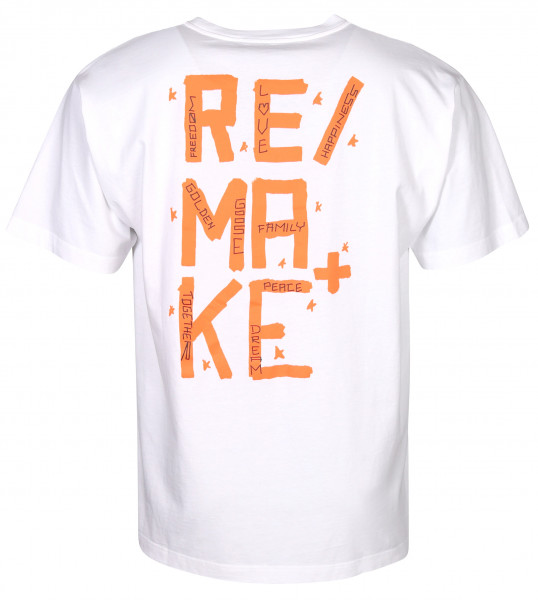 Men's Golden Goose T-Shirt Artu' Backprinted White/Orange