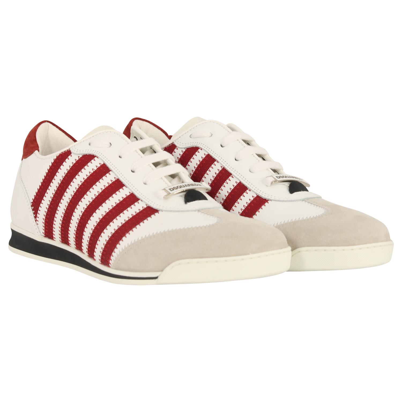 Men's Dsquared Sneaker White/Red   www