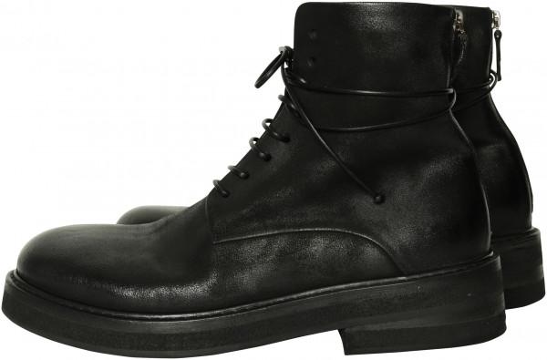 Men's Marsèll Combat Boots Black Deer Leather