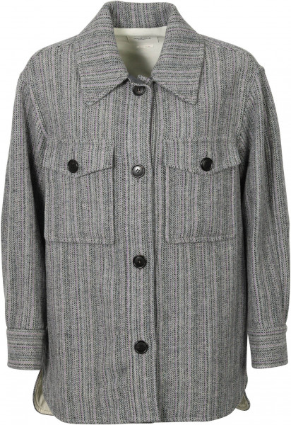 Women's Isabel Marant Fishbone Overshirt Greyish Blue