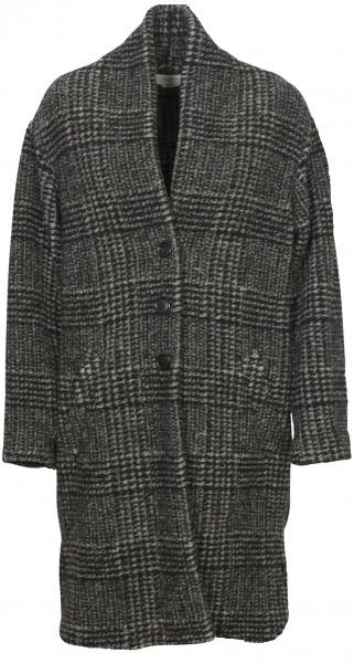 Women's Isabel Marant Étoile Check Coat Gabriel Black/Dark Grey