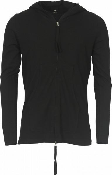Men's Thom Krom Hooded Sweat Zip Jacket Black