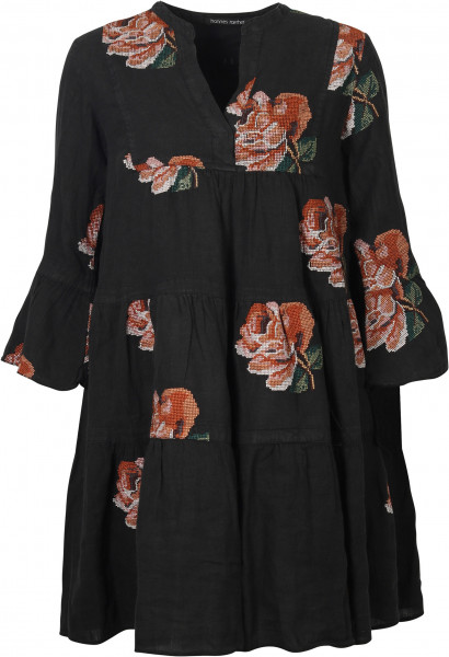 Women's Hannes Roether Dress Black Embroidered