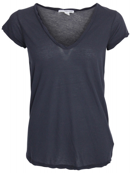 James Perse V Neck T-Shirt navy WEK3182