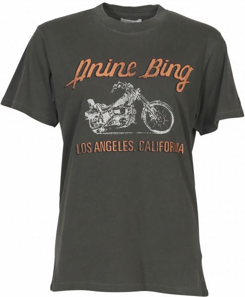 Women's Anine Bing Lili Tee Motorcycle Charcoal