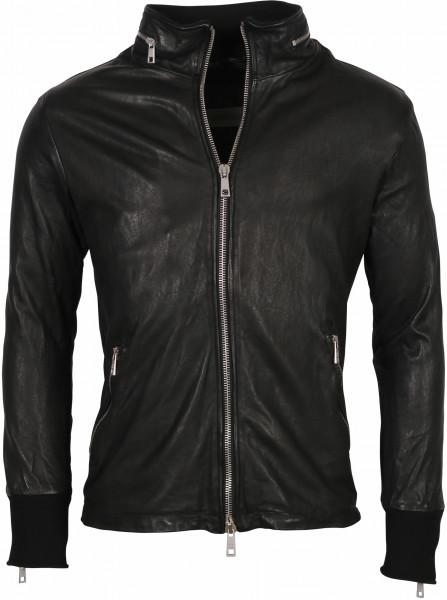 Men's Giorgio Brato Leather Jacket Black