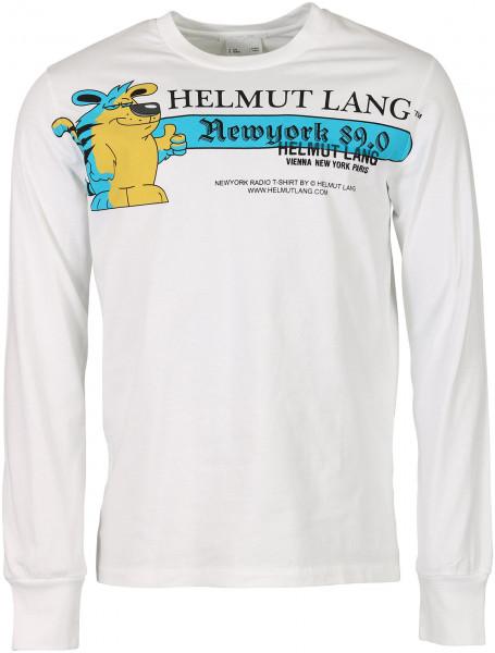 Men's Helmut Lang Longsleeve Offwhite Printed