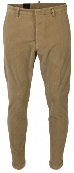 Men's Dsquared Cord Pants Hockney Beige