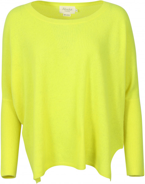 Women's Absolut Cashmere Roundneck Pullover Fluo Yellow