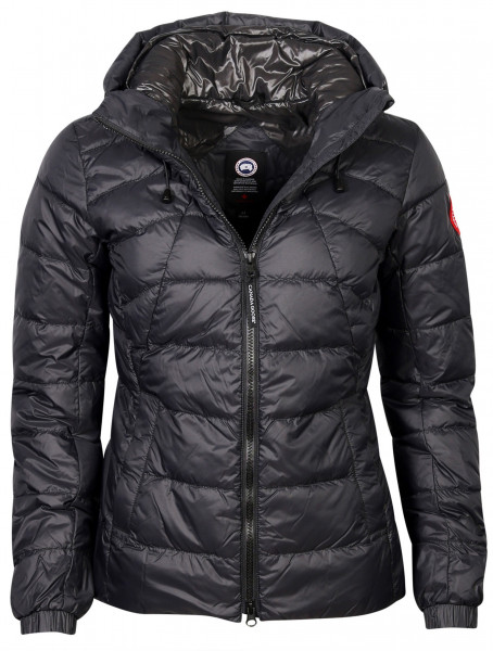 Women's Canada Goose Abbott Hoody Light Down Jacket Black