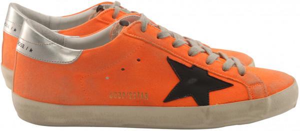 Men's Golden Goose Sneaker Superstar Orange Fluo/Black Star