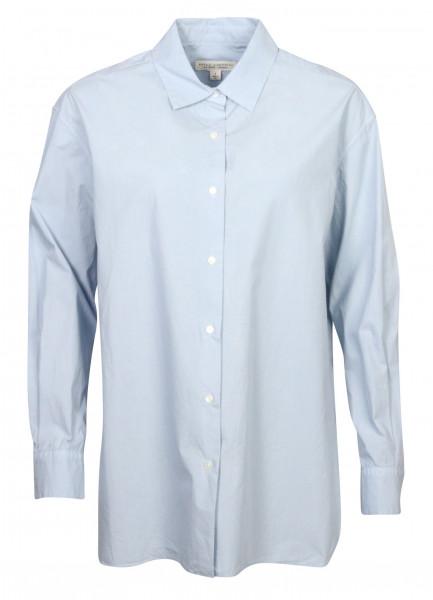 Women's Nili Lotan Cotton Shirt Yorke Light Blue