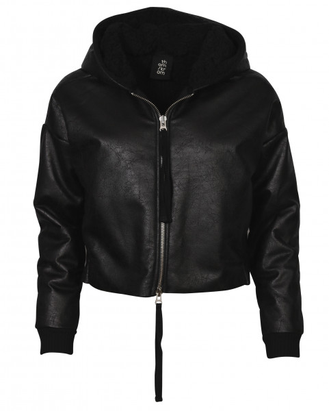 Women's Thom Krom Fake Fur Hooded Cropped Jacket