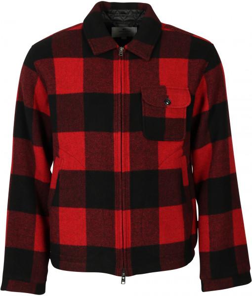 Men's Woolrich Zipper Buffalo Check Overshirt