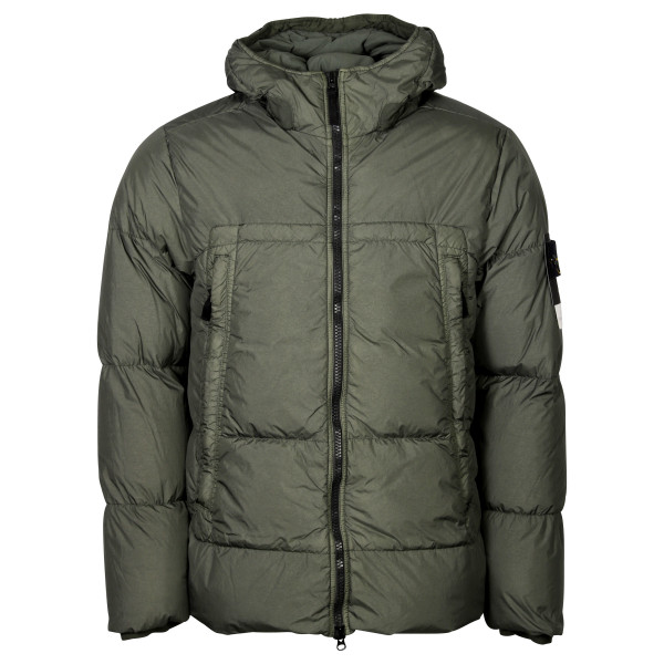 Men's Stone Island Real Down Jacket Olive